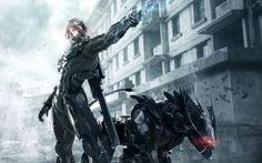 ninja, cyborg, casa, espada, armadura