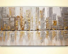 ABSTRACT ART city on canvas Textured streets painting with Silver Gold Original Canvas Art by Osnat Tzadok 50 Street Painting, City Painting, Abstract Landscape, Abstract Art, Art Mur, Art Paintings For Sale, Cityscape Art, Art Abstrait, Pop Art