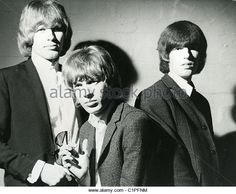 WALKER BROTHERS US pop trio in 1966 from l: John Maus, Scott Walker and Gary Leeds - Stock Image