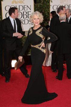 Helen Mirren is proof that we can be stunning regardless of our age! #spadelic #helen mirren #golden globes