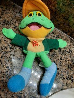 "VTG 1997 Kelloggs Plush Beanie toy - Sugar Smacks Dig'Em Frog 8"" VGUC #DIGEMDesign"