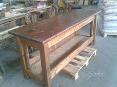 Tavolo Da Lavoro Weber : Banco bancone tavolo da lavoro in legno piano con doghe lunghe