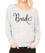 Wide Neck Bride Shirt