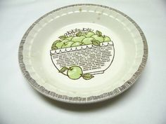 Pie Pan Royal China Jeannette Decorative Plate by sweetie2sweetie & Pie Pan Decorative Plate Apple Pie Red White by sweetie2sweetie ...