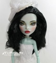 "** Libera ** 11"" 1/6 OOAK custom Monster high Scarah Screams Repaint by Yu #Dolls"