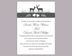 Invitation Template Word Best Diy Wedding Invitation Template Set Editable Word File Instant .