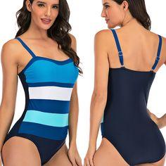 ZOMUSAR 2019 Women Plus Size Gradient Tankini Swimming Clothing Swimsuit Beachwear Padded Swimwear