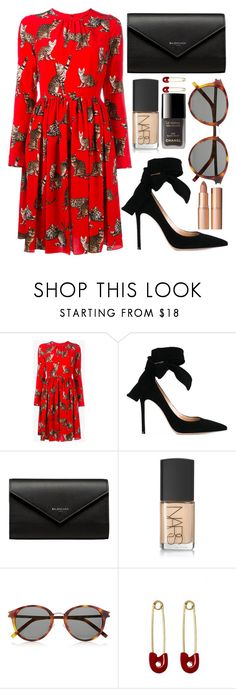 """the purr-fect dress"" by steeniebean ❤ liked on Polyvore featuring Dolce&Gabbana, Gianvito Rossi, Balenciaga, NARS Cosmetics, Yves Saint Laurent, Chanel, Kristin Cavallari and Charlotte Tilbury"