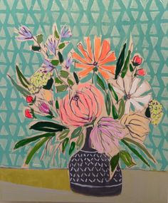 Lulie Wallace Art — Flowers for Susie - I love her work! Botanical Art, Botanical Illustration, Illustration Art, Flower Images, Flower Art, Painting Inspiration, Art Inspo, Arte Floral, Abstract Flowers