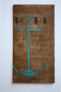 Wooden Hope Bible Verse Wall Decor by InGodsName on Etsy, $25.00