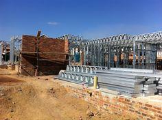 Steel Frame House - Ground Floor coming along.