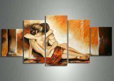 Pas cher 5 panneaux hot nue câlin groupe des femmes du corps de fille nue sexy peinture à l'huile toile décoration peinte à la main l'huile de toile portrait art mur, Acheter  Peinture et calligraphie de qualité directement des fournisseurs de Chine:  Liste d'options de produit  Remarque: les informations ci-dessous est pour référence seulement.  S'il vous pla