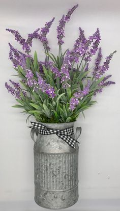 Excited to share this item from my shop Purple Flower Arrangement in a Galvanized Can Wild Flowers Centerpiece Mantel Decor Mothers Day Gift Metal Vase Rustic Table Decor Summer Centerpieces, Summer Wedding Decorations, Flower Centerpieces, Flower Vases, Rustic Table Centerpieces, Table Decorations, Small Vases With Flowers, Purple Flowers, Wild Flowers