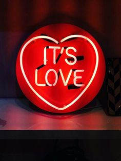 'It's love' by artist Chris Bracey #neon