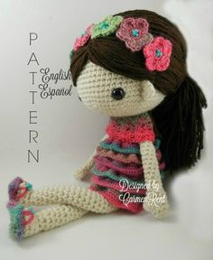 Claudia  Amigurumi Doll Crochet Pattern PDF by CarmenRent on Etsy