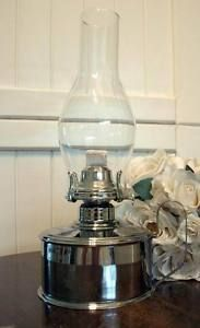 nickel plated kerosene reproduction oil lamp