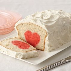 A heart-shaped surprise awaits you when you slice into this loaf cake.