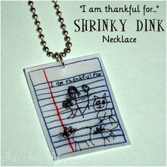"""Cornucopia of Creativity: """"I'm thankful for"""" shrinky dink necklace — Kids Craft {Brie Brie Blooms}"""