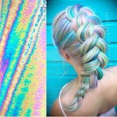 Rainbow Hair Colour, hairsmart: hairsmart ❤ liked on Polyvore featuring beauty products, haircare, hair color, hair and hair styles