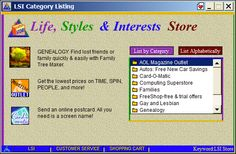 AOL Life Styles & Interests Store Screenshot