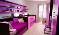 FUN, FRESH AND SPACIOUS PURPLE KID BEDROOMS  I wouldve loved any of these rooms as a girl. home-decor-inspiration
