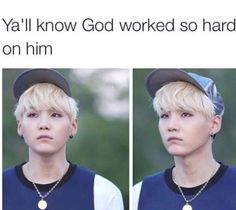 He has such an unique handsomeness! I have never seen a pale angel like him before! <---Yoongi is extremely handsome