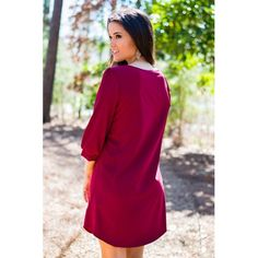 """Casey Shift Dress - RESTOCKED in Burgundy  Another fall favorite  enter ✨CODEAS✨ under """"view cart"""" for an exclusive discount on your next purchase. Xoxo"""