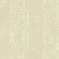 Sample Watercolor Scroll Stripe Wallpaper in Beige and Gold design by York Wallcoverings