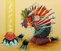 """Age of Omuktlans"" Streetart & Artworks based on mexican culture by El Curiot"