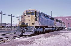 https://flic.kr/p/Ee2UTk | Early BN | 46 years ago today--March 2 1970--the Burlington Northern was formed when the CB&Q, GN, NP, and SP&S merged.  Power from all of the railroads soon appeared all over the new system.  Here at Cicero in a slide with the processing date of October 1970 sit a set of SD45's almost certainly for #97.  Judging by the angle of the sun, I'd say this was more likely taken in the summer--a roll of film lasted me a lot longer back then!  I think that's the no...