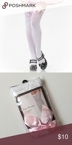 💸 Leg Avenue Opaque Thigh High with Satin Bow Leg Avenue Opaque Thigh High with Satin Bow   New in package Leg Avenue Accessories Hosiery & Socks