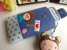 I Love You Handmade Cell Phone Case-Blue