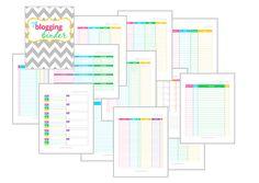 Blogging Tools #4: Free Printable Blog Planners