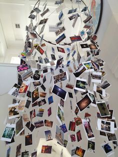 great mobile with postcards hanging from the ceiling #mypostcard
