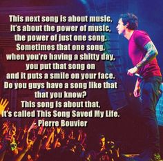 """""""This song saved my life"""" - simple plan  One of my favorite songs <3"""
