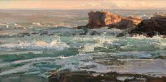 Kathryn Stats, Evening Tide, oil, 15 x 30.