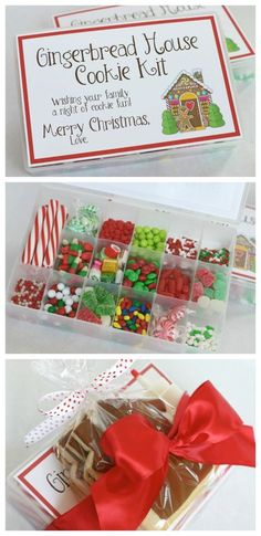 Gingerbread House Cookie Kit | Such a fun Christmas Gift idea.