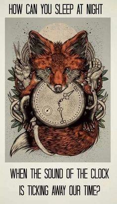 How can you sleep time ticking away