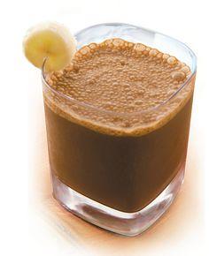 Chocolate Banana Protein Shake, 215 calories, 25g protein