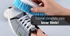 Aprenda um tutorial completo de como lavar tênis de todos os modelos e estilos. Como lavar tênis branco, de couro, camurça na mão e na máquina de lavar.