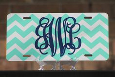 Personalized Chevron License Plate - Monogrammed - Metal/Aluminum on Etsy, $13.00