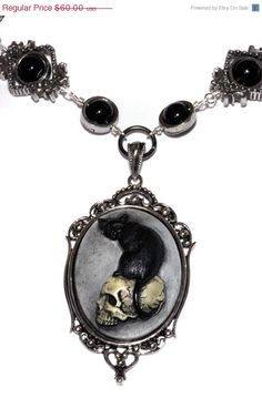 Steampunk Goth Jewelry  Necklace  Feline / by CatherinetteRings, $55.00