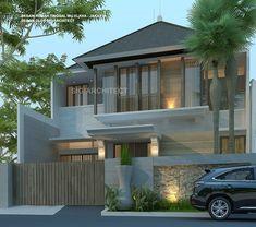 Model Rumah 2 Lantai Tropis Minimalis, Jasa Arsitek Rumah Modern
