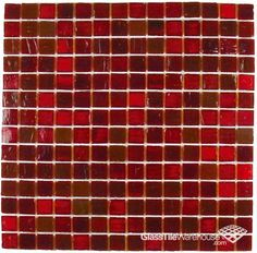 Red Recycled Glass Tile For The Kitchen Backsplash