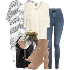 A fashion look from September 2016 featuring Velvet cardigans, H&M blouses and Topshop jeans. Browse and shop related looks.
