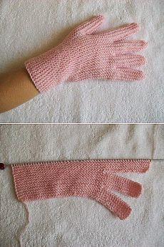 tru-knitting: Перчатки на двух спицах без шва №1