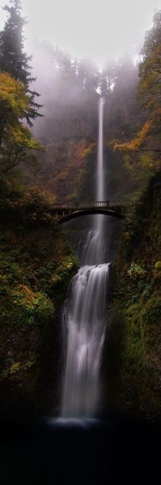 Multnomah Falls – Portland, Oregon…road trip destination while driving up the west coast – San Diego to Seattle