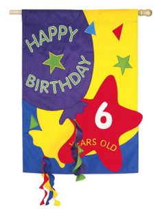 Count the Years Birthday Flag by Evergreen Enterprises sku16106
