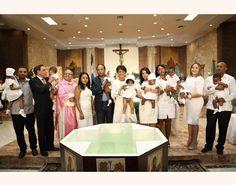 Primera Dama encabeza bautizo ocho niños de dos partos múltiples; entre ellos sextillizos de La Victoria
