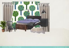 cosy winter bedroom, created with IKEA Australia's new moodboard tool. a bit of fun...